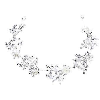 Type 2 bryllup hovedbeklædning blad perle krystal pandebånd, brude hår tilbehør, hovedbeklædning az6735