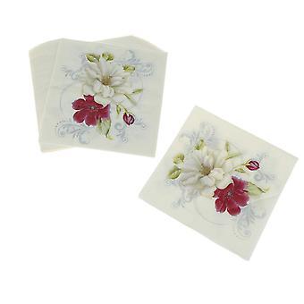 Kukka Lilja Painettu Lautasliinat Paperi Cocktail Syntymäpäivä Serviettes Vintage Tissue
