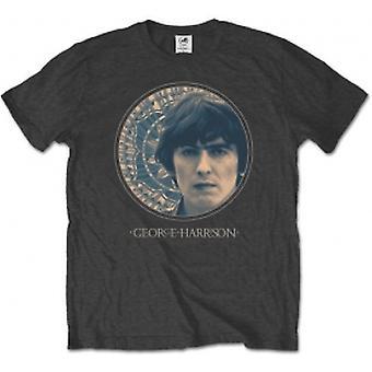 George Harrison Circular Portrait Mens Charcoal TS: Large