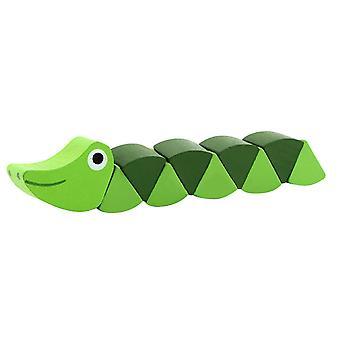 Монтессори Игрушки Деревянные детские головоломки Раннее образование Обучение Деревянные игрушки Caterpillar Твист Насекомые Упражнение Детские пальцы