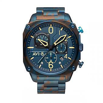 Herrklocka Avi-8 HAWKER HUNTER - AV-4052-33 Blå Stålrem