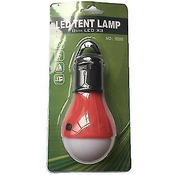 Zewnętrzne wielofunkcyjne światło awaryjne kempingowe, hak typu mini wodoodporne światło namiotowe LED (Czerwony)