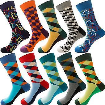 10 paria sukat lomat talvi hauskaa juhlava bulkkipakkaus, timantti muotoinen uros sukat joulueläin