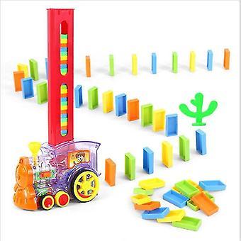 Children's Color Domino Train, Domino Smart Toy, Electric Train Puzzle Game