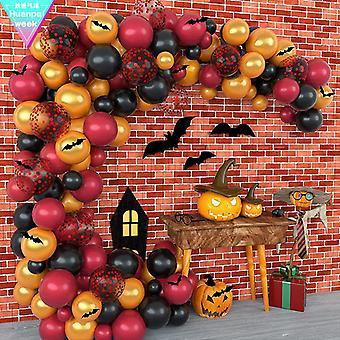 מסיבת ליל כל הקדושים אשף הקסם בלון להגדיר 114pcs עטלף לטקס