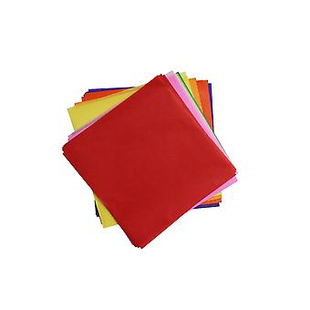 480 Assorted Colours Tissue Paper Squares for Kids Crafts - 150mm