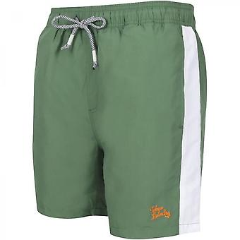 Swim Shorts With White Band Tapes Size-l