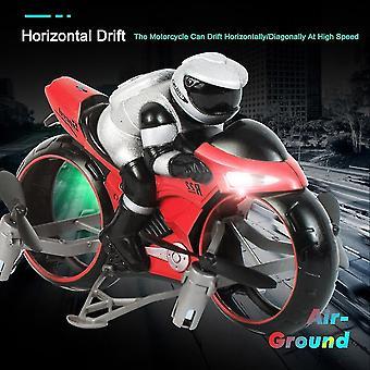 RC Motorsykkel Vehicl Kids Leker Elektrisk 2,4 GHz Racing Motorsykkel Gutt Fligt Drone For Barn (Rød)