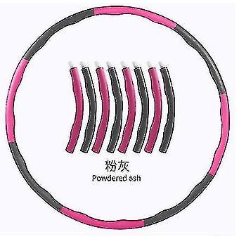 Esercizio addominale ponderato Hula Hoop Gym Fitness Hula Hoop Core Strength (Grigio Rosa)