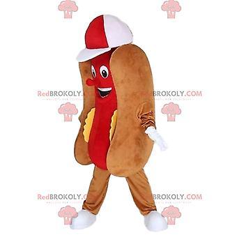 Maskottchen REDBROKOLY.COM Hot Dog, Fast Food-Verkleidung, riesiger Hot Dog