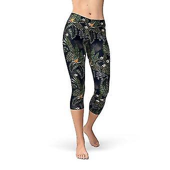 Hosiery women's bird of paradise capri leggings