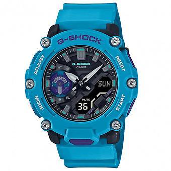 G-Shock Ga-2200-2aer Carbon Core Guard Blue Silicone Men's Watch