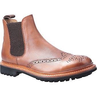 Cotswold men's siddington commando goodyear welt boot brown 29259