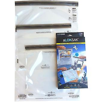 "Loksak aLoksak Resealable Waterproof Storage Bags (12""x12"", 13""x11"", 16""x24"")"