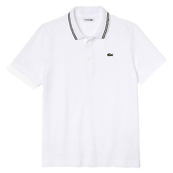 Lacoste tipped polo skjorte - hvit