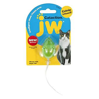 JW Pet Cataction Catnip Infused Mouse With Bell And Tail Cat Toy  - 1 count