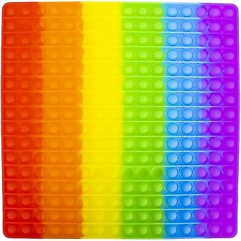 31cm XXL Fidget Toy Big Pop It Toy Stress Relax Rainbow SquarePants