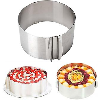 Adjustable Round Cake Ring Mould Stainless Steel Mousse Baking Mold Tool