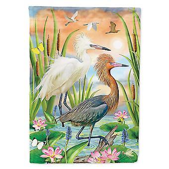 Flags windsocks carolines treasures prs4006gf reddish heron two phases flag garden size