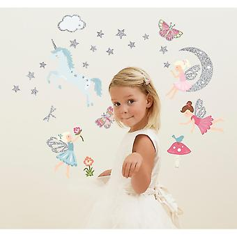 Home decor decals funtosee glitter in the garden 22 wall stickers