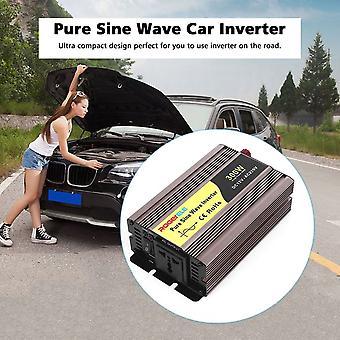 Pure Sine Wave Car Inverter 300w Dc12v To Ac220v Usb Converter Transformer