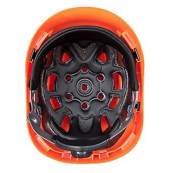 Portwest Mens Height Endurance Mountaineer Helmet Orange One Size Orange