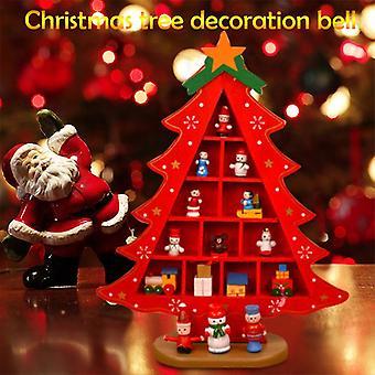 Aionyaaa Home Christmas Decorations Wooden Christmas Tree Handmade Table Decoration Diy Gift Toys
