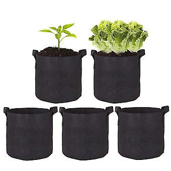 10pcs 5 Gallon Planting Grow Bags, Aeration Fabric Pots With Handles