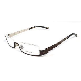Boucheron Unisex occhiali da vista rettangolari Skinny Marrone/Multi