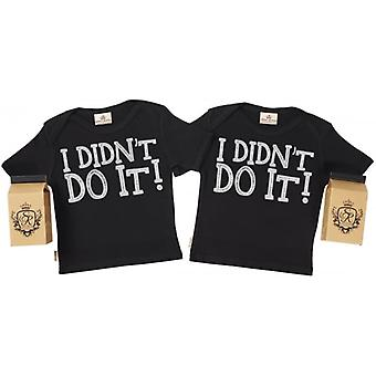 Spoilt Rotten I Didn't Do It Baby T-Shirt Twins Set In Gift Milk Carton
