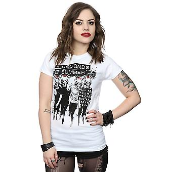 5 Seconds Of Summer Women's Fox Faces T-Shirt