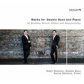 Brahms / Bruch / Koussevitzky / Shehata - Works for Double Bass & Piano [CD] USA import