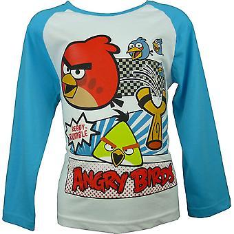 الأولاد غاضبون الطيور أعلى الأكمام الطويلة