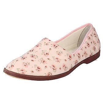 Ladies Ladylove Floral Slippers Style - Floral Design