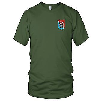 US Army Forces spéciales - 11e groupe Flash brodé Patch - avec Crest Mens T Shirt