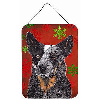 الماشية الأسترالية الكلب الثلج الأحمر عيد الميلاد الباب جدار معدني معلق يطبع