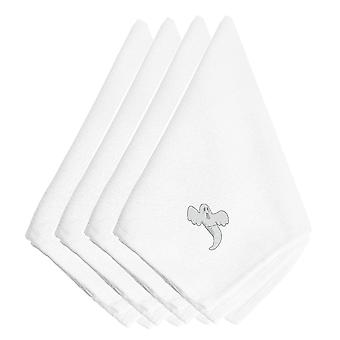 Halloween Single Ghost Embroidered Napkins Set of 4