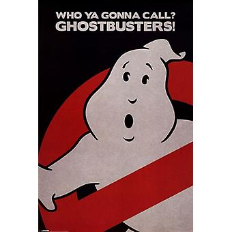 Ghostbusters - Who Ya Gonna Call - Logo Poster Poster Print