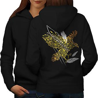 Bird Feather Fly Nature Women BlackHoodie Back | Wellcoda