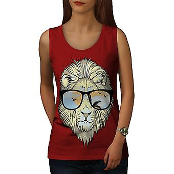 Tiger Swag Chill Animal Women RedTank Top | Wellcoda