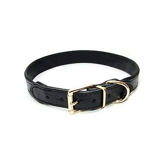 Vital Pet Products Slim Black Leather Dog Collar