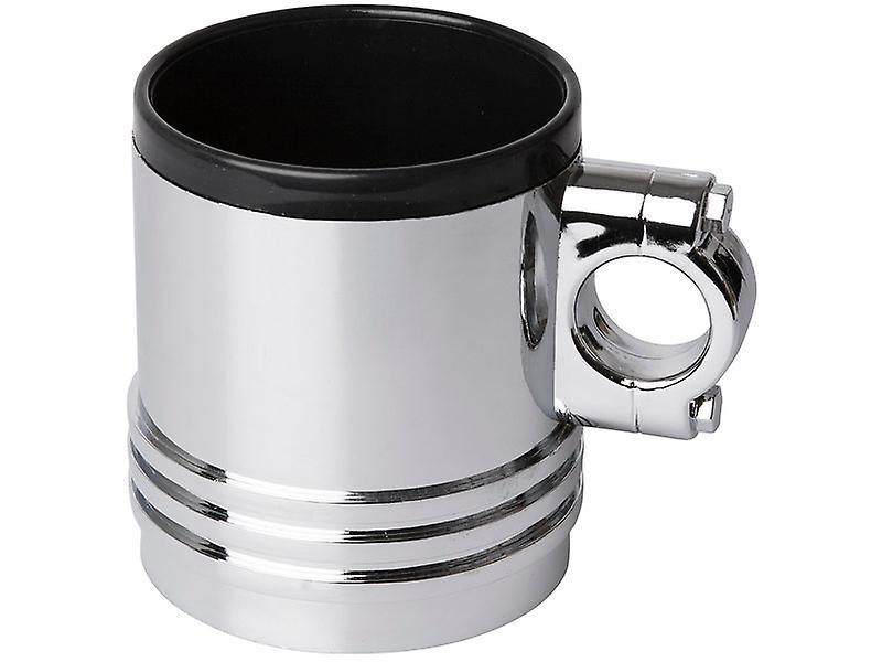 Wrenchware Car Engine Piston Mug - chrome effect drinking cup