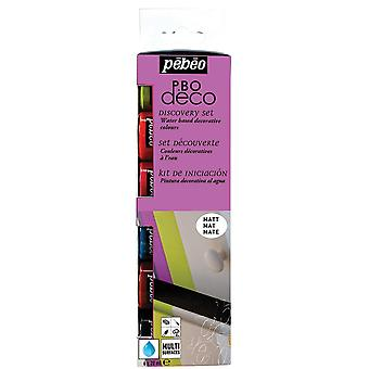 Pebeo Deco Acrylic Paint Discovery Set Matt 6 x 20ml