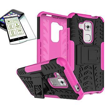 Pedazo de caso 2 híbrido SWL rosa para Huawei Nova plus + funda de bolsa de vidrio templado
