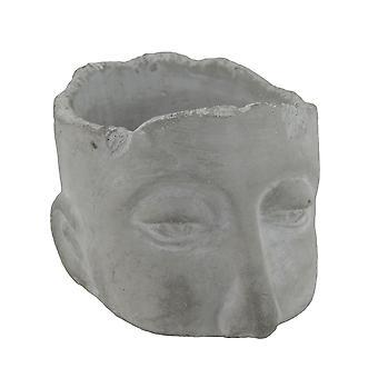 Verweerde Finish middellange sculpturale Cement hoofd Planter