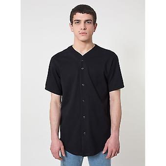American Apparel Mens Thick-Knit Short Sleeve Baseball T-Shirt