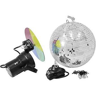 50101860 HV halogenowe lustro piłkę zestaw z silnikiem, włącznie z kolor żele 30 cm
