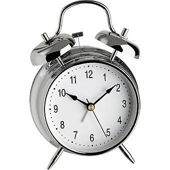 TFA Dostmann 98.1043 Quartz Alarm clock Silver Alarm times 1