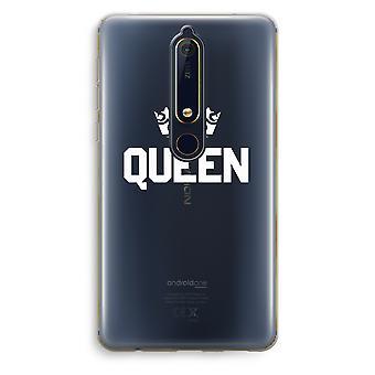 Nokia 6 (2018) gjennomsiktig sak (myk) - Queen svart