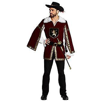 Rycerz muszkieter mens strój średniowiecznego karnawału
